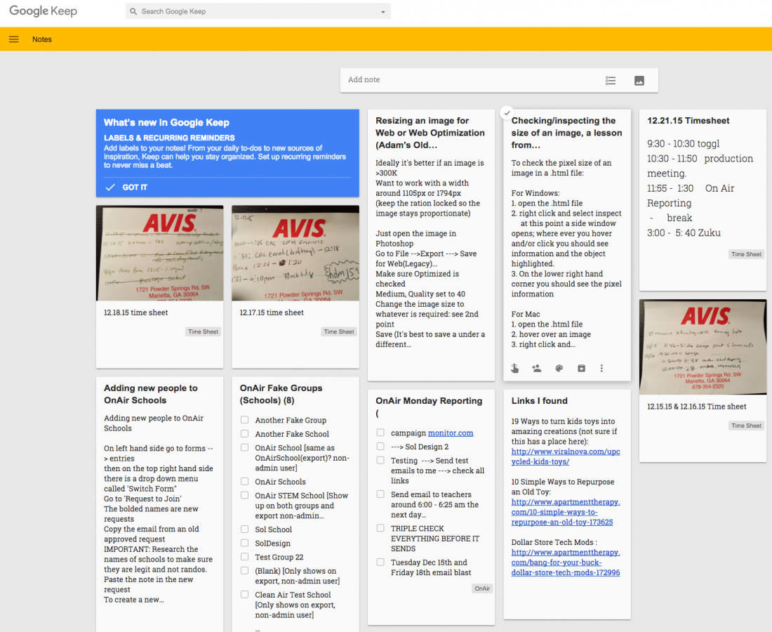 Productivity App Review: Google Keep